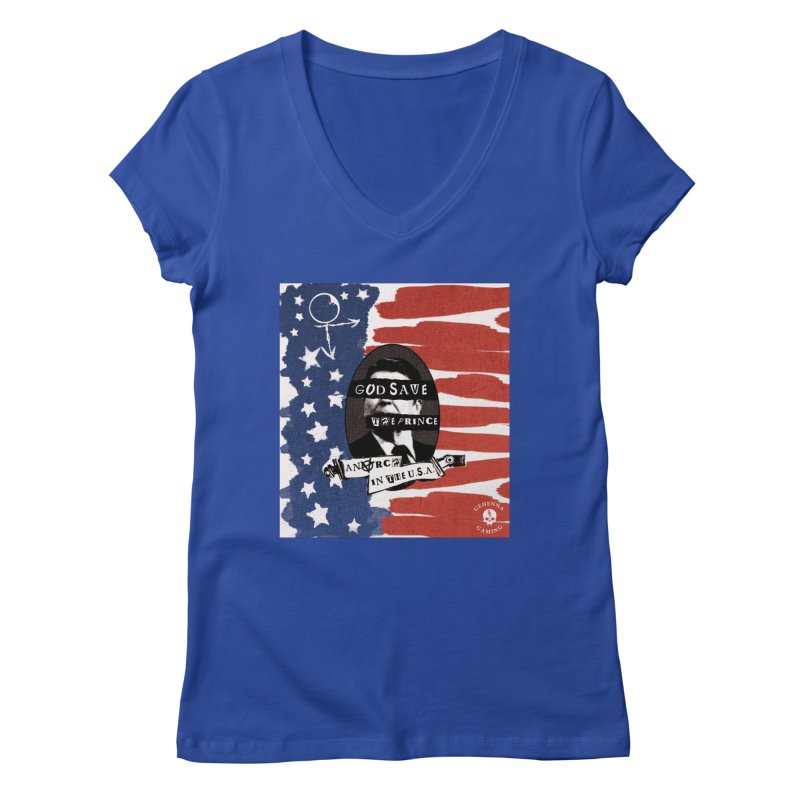 Anarch in the U.S.A. Women's Regular V-Neck by GehennaGaming's Artist Shop