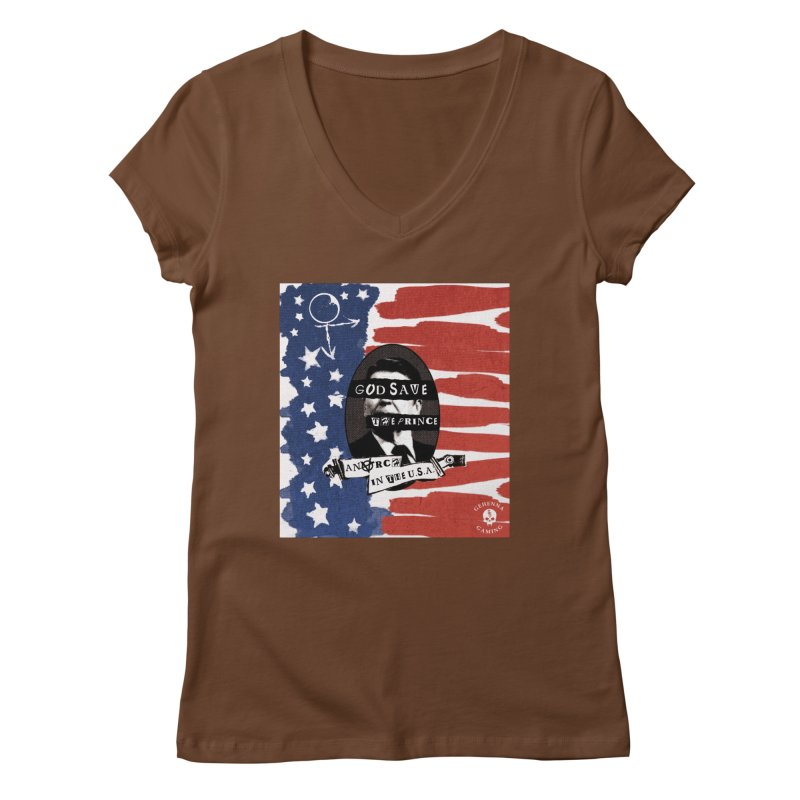 Anarch in the U.S.A. Women's Regular V-Neck by The Gehenna Gaming Shop