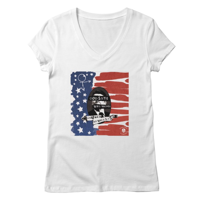 Anarch in the U.S.A. Women's V-Neck by The Gehenna Gaming Shop