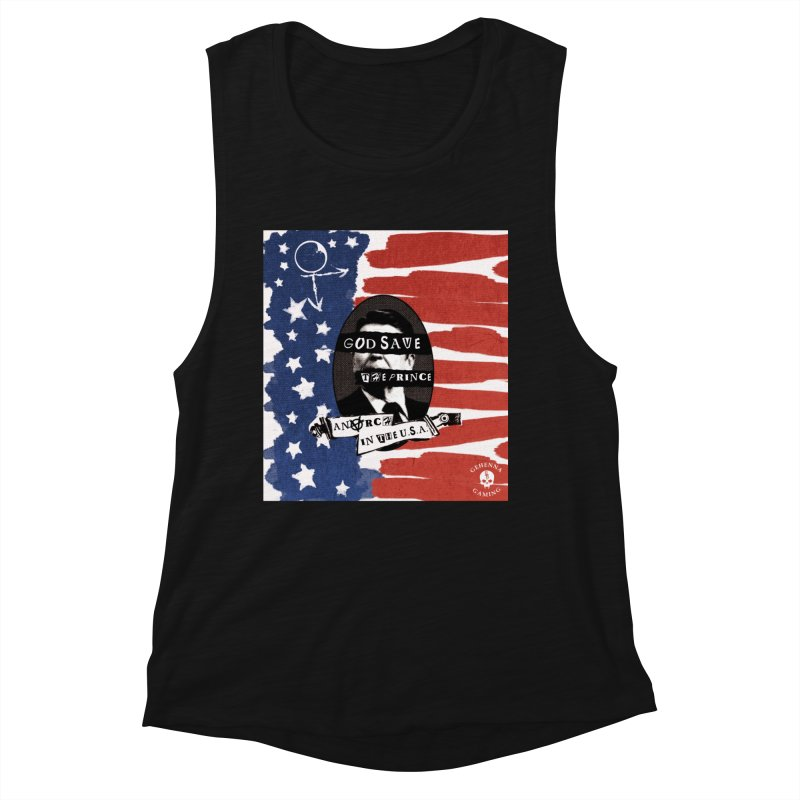 Anarch in the U.S.A. Women's Muscle Tank by GehennaGaming's Artist Shop