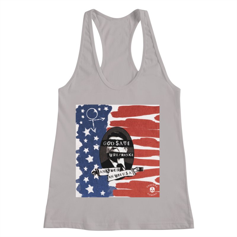 Anarch in the U.S.A. Women's Racerback Tank by GehennaGaming's Artist Shop