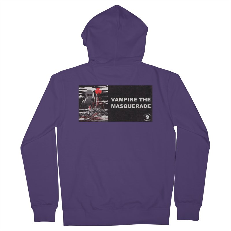Religious Propaganda: Vampire the Masquerade (parody) Women's French Terry Zip-Up Hoody by GehennaGaming's Artist Shop