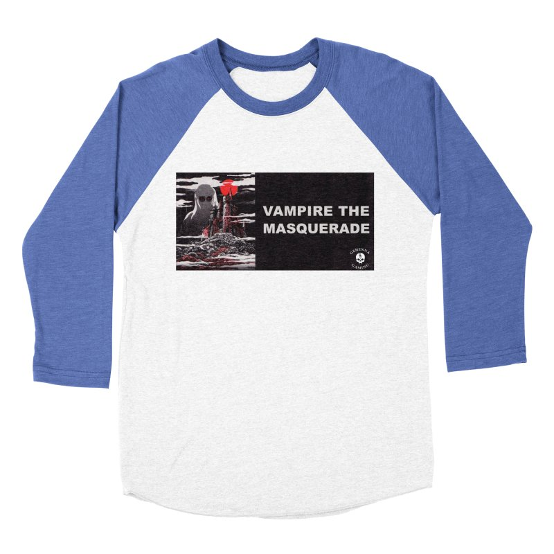 Religious Propaganda: Vampire the Masquerade (parody) Men's Baseball Triblend Longsleeve T-Shirt by GehennaGaming's Artist Shop