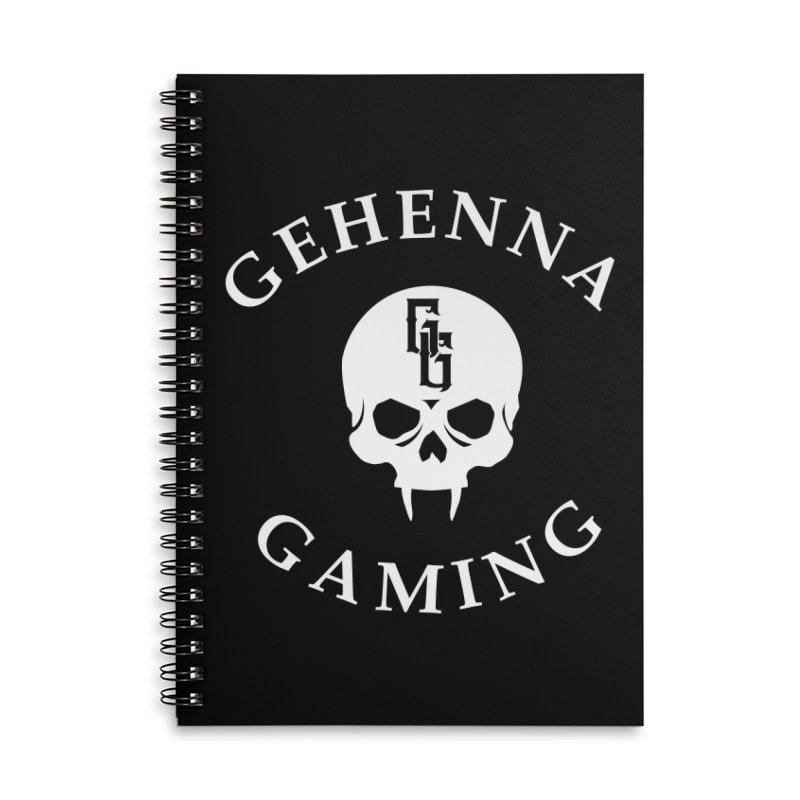 Gehenna Gaming (Goth Version) Accessories Lined Spiral Notebook by The Gehenna Gaming Shop