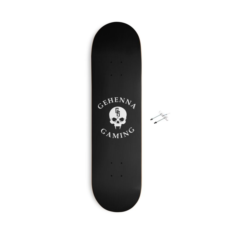 Gehenna Gaming (Goth Version) Accessories With Hanging Hardware Skateboard by GehennaGaming's Artist Shop