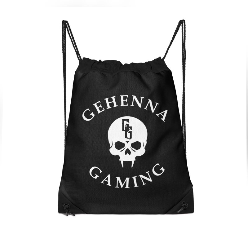 Gehenna Gaming (Goth Version) Accessories Drawstring Bag Bag by The Gehenna Gaming Shop
