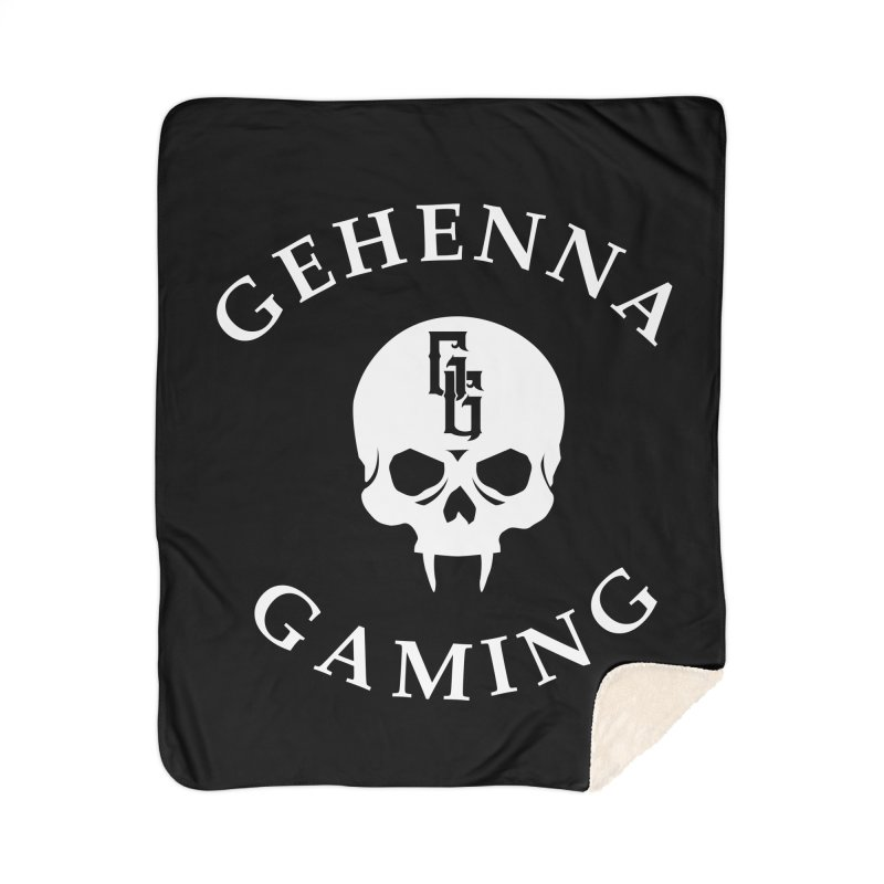 Gehenna Gaming (Goth Version) Home Sherpa Blanket Blanket by The Gehenna Gaming Shop