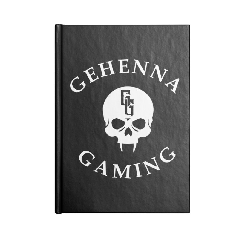 Gehenna Gaming (Goth Version) Accessories Lined Journal Notebook by The Gehenna Gaming Shop