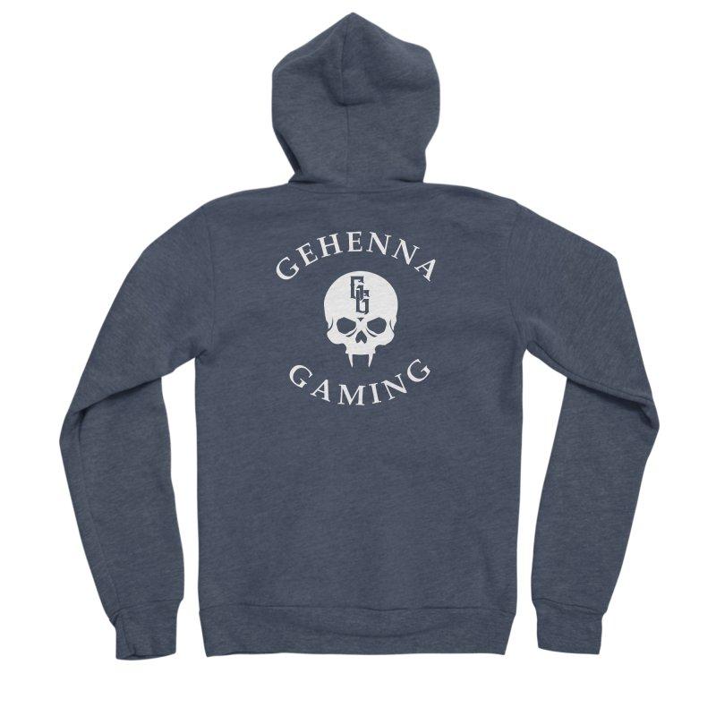 Gehenna Gaming (Goth Version) Men's Sponge Fleece Zip-Up Hoody by The Gehenna Gaming Shop