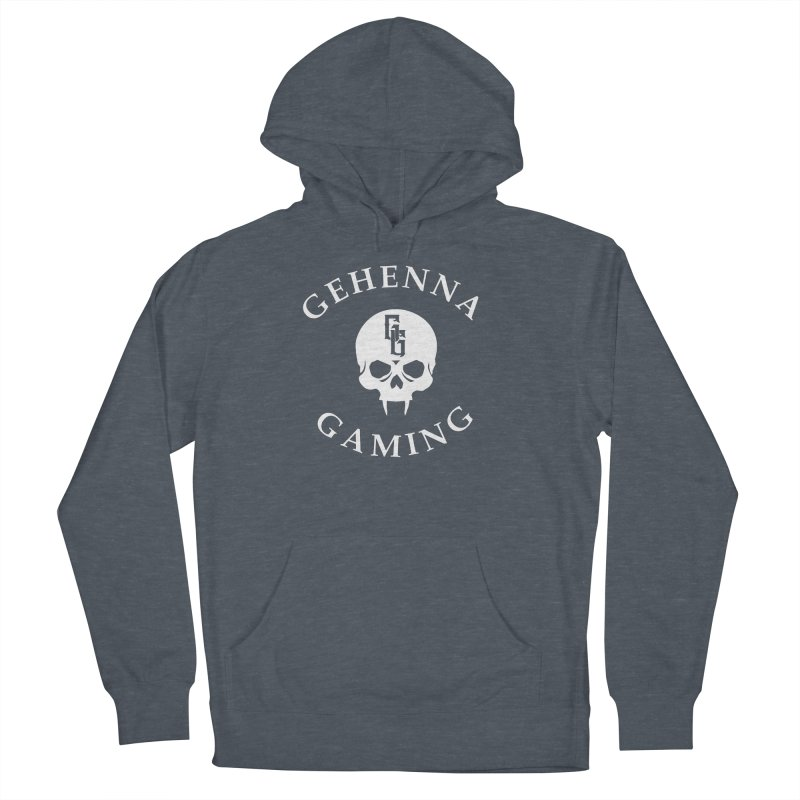 Gehenna Gaming (Goth Version) Men's French Terry Pullover Hoody by The Gehenna Gaming Shop