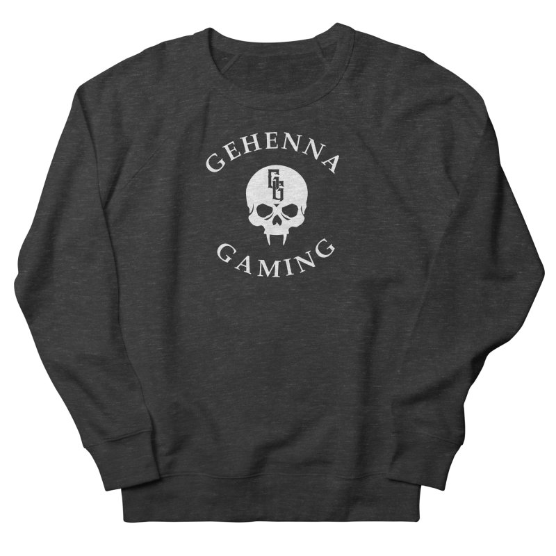 Gehenna Gaming (Goth Version) Men's French Terry Sweatshirt by The Gehenna Gaming Shop