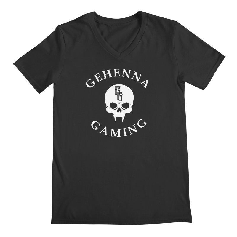 Gehenna Gaming (Goth Version) Men's Regular V-Neck by GehennaGaming's Artist Shop