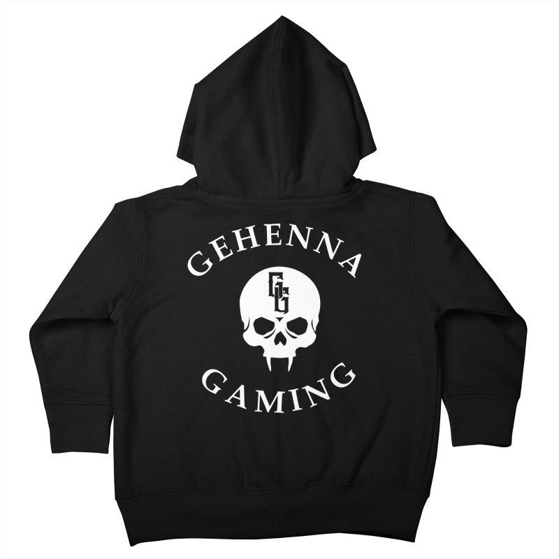 Gehenna Gaming (Goth Version) Kids Toddler Zip-Up Hoody by The Gehenna Gaming Shop