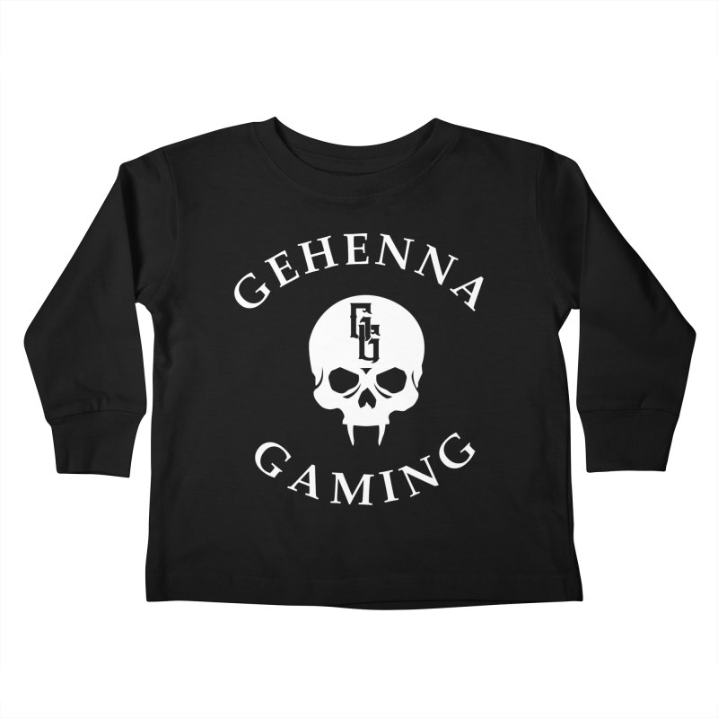 Gehenna Gaming (Goth Version) Kids Toddler Longsleeve T-Shirt by The Gehenna Gaming Shop