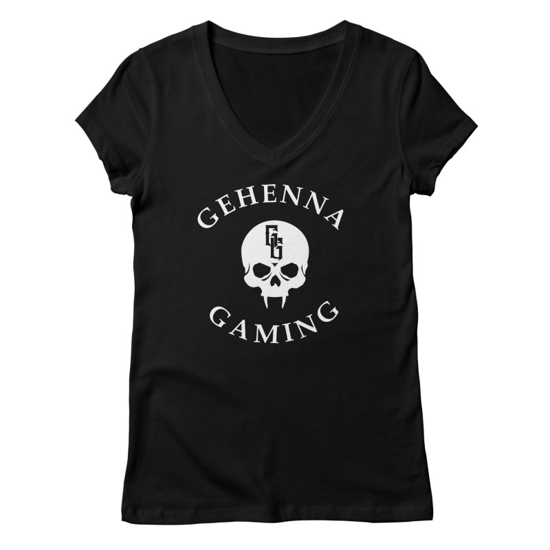 Gehenna Gaming (Goth Version) Women's Regular V-Neck by The Gehenna Gaming Shop