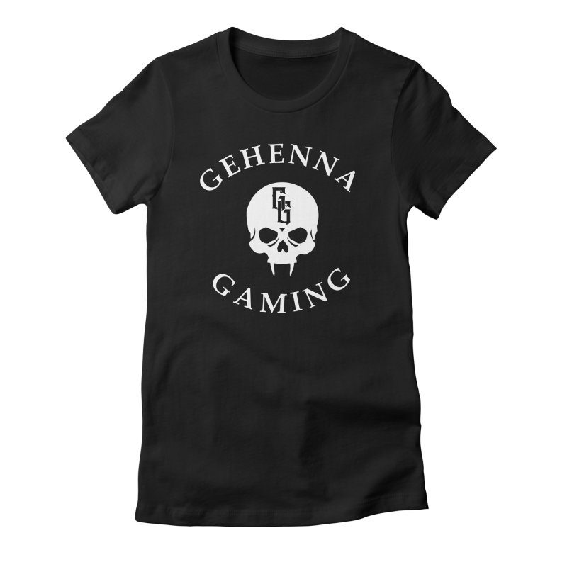 Gehenna Gaming (Goth Version) Women's Fitted T-Shirt by GehennaGaming's Artist Shop