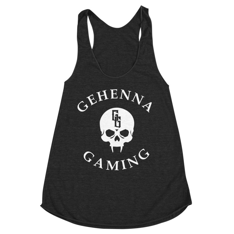 Gehenna Gaming (Goth Version) Women's Racerback Triblend Tank by GehennaGaming's Artist Shop