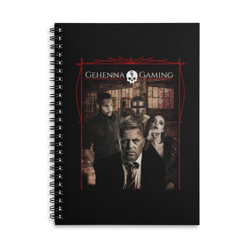 Gehenna Gaming: The Coterie Accessories Lined Spiral Notebook by GehennaGaming's Artist Shop