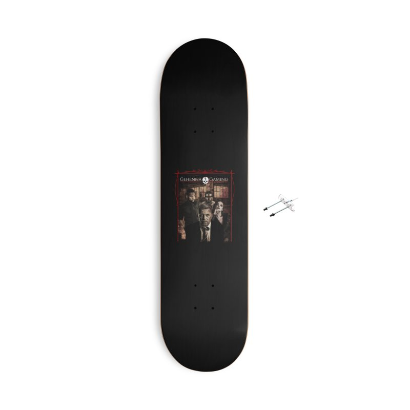 Gehenna Gaming: The Coterie Accessories With Hanging Hardware Skateboard by GehennaGaming's Artist Shop