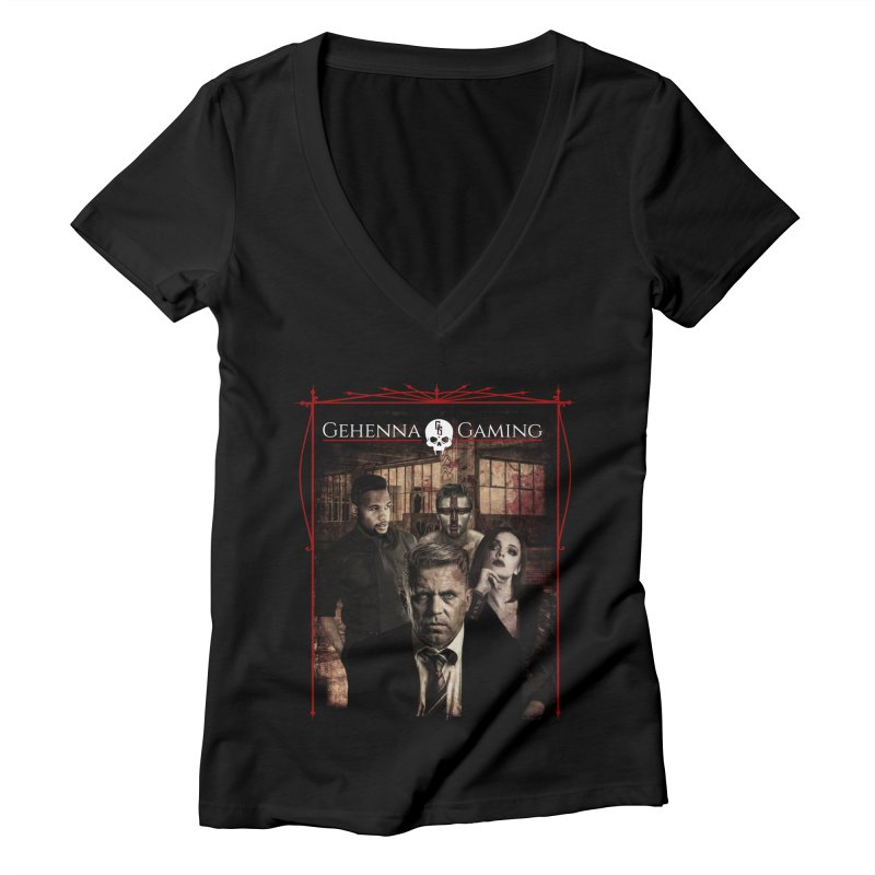 Gehenna Gaming: The Coterie Women's Deep V-Neck V-Neck by The Gehenna Gaming Shop