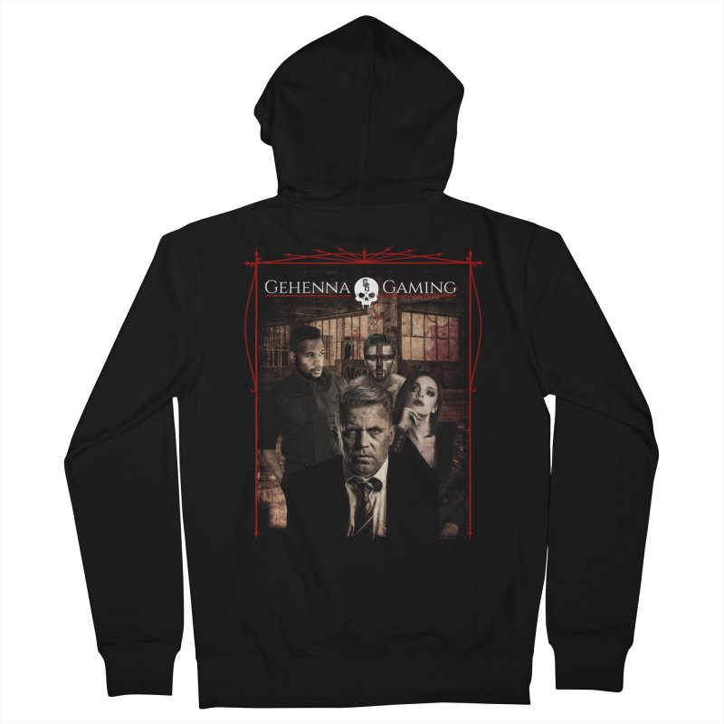 Gehenna Gaming: The Coterie Men's French Terry Zip-Up Hoody by The Gehenna Gaming Shop