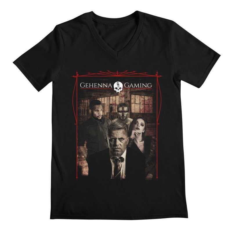 Gehenna Gaming: The Coterie Men's V-Neck by The Gehenna Gaming Shop