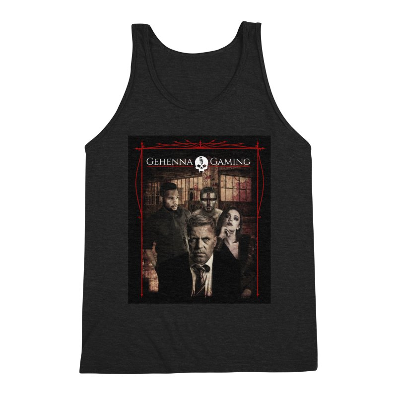 Gehenna Gaming: The Coterie Men's Triblend Tank by The Gehenna Gaming Shop