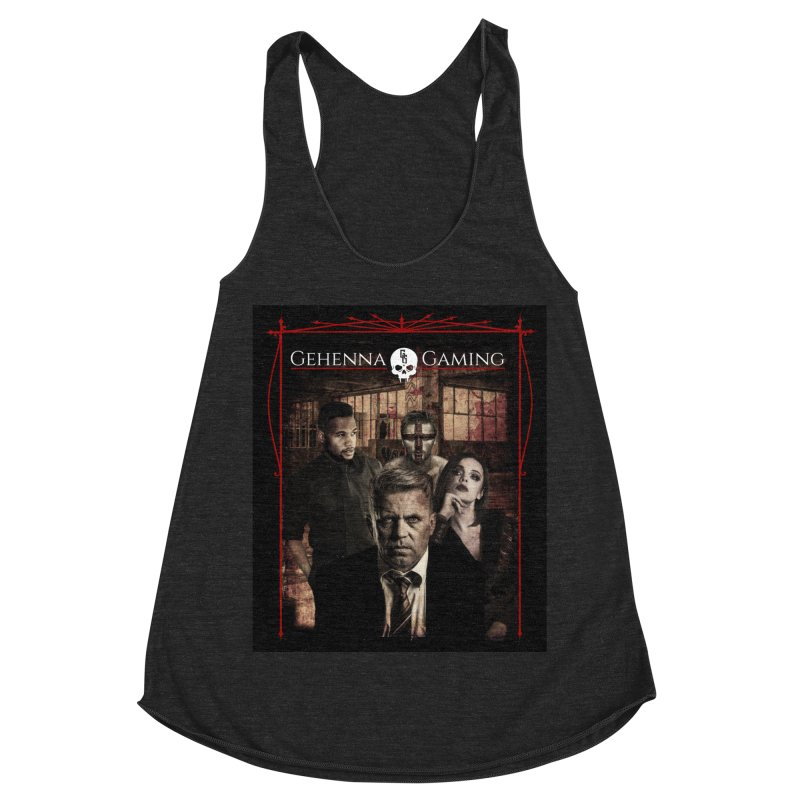 Gehenna Gaming: The Coterie Women's Racerback Triblend Tank by The Gehenna Gaming Shop