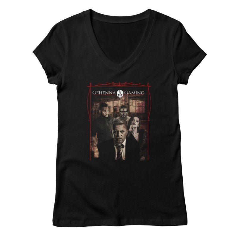 Gehenna Gaming: The Coterie Women's Regular V-Neck by The Gehenna Gaming Shop