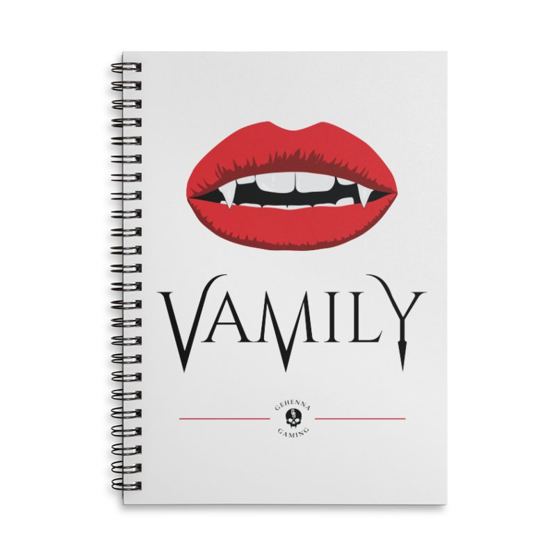Vamily Accessories Lined Spiral Notebook by GehennaGaming's Artist Shop