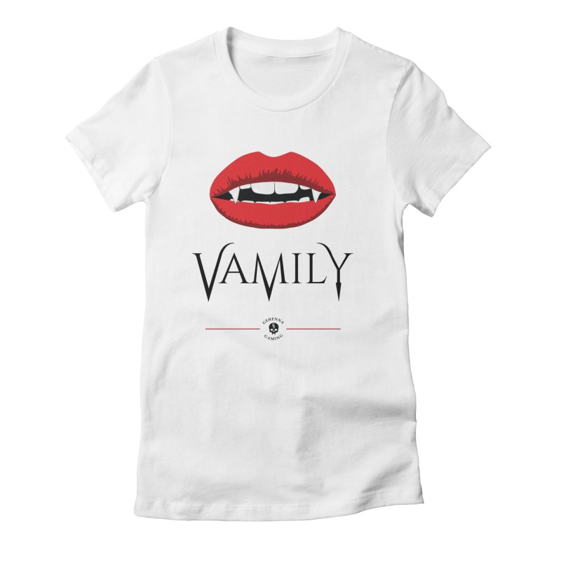 Vamily Women's Fitted T-Shirt by The Gehenna Gaming Shop