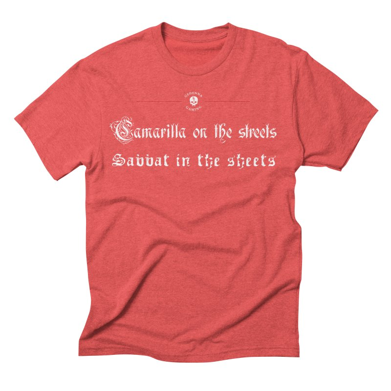 Camarilla on the streets, Sabbat in the sheets Men's Triblend T-Shirt by GehennaGaming's Artist Shop