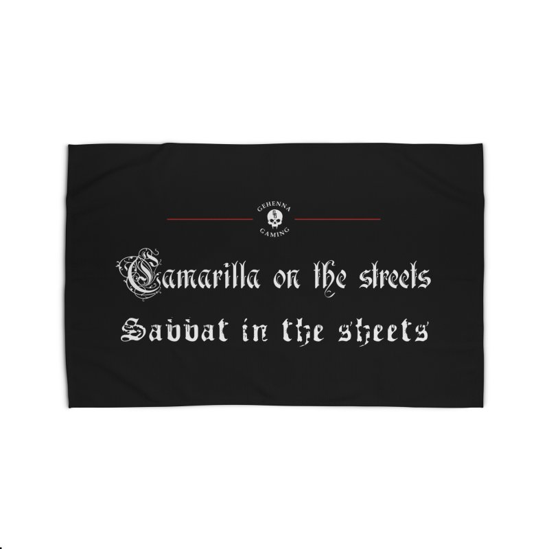 Camarilla on the streets, Sabbat in the sheets Home Rug by The Gehenna Gaming Shop