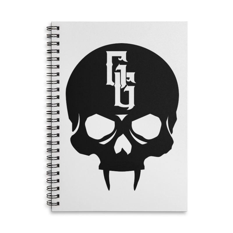 Gehenna Gaming Skull Logo (No Text) Accessories Lined Spiral Notebook by GehennaGaming's Artist Shop