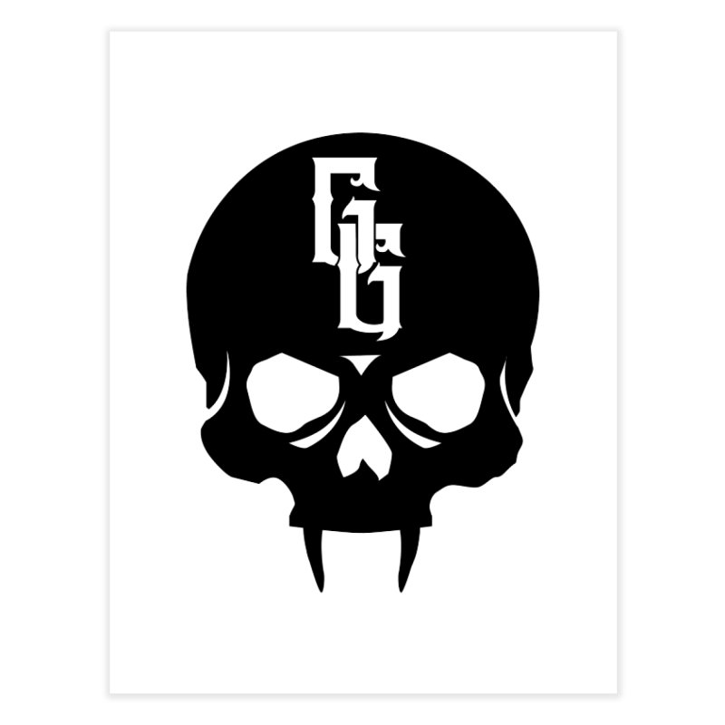 Gehenna Gaming Skull Logo (No Text) Home Fine Art Print by The Gehenna Gaming Shop