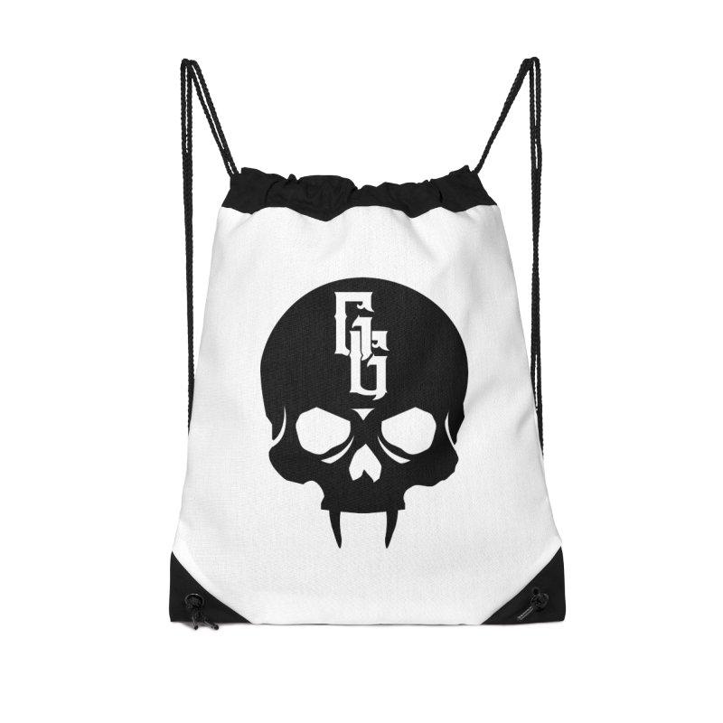 Gehenna Gaming Skull Logo (No Text) Accessories Drawstring Bag Bag by The Gehenna Gaming Shop
