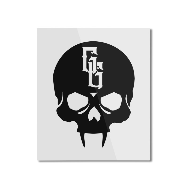 Gehenna Gaming Skull Logo (No Text) Home Mounted Aluminum Print by The Gehenna Gaming Shop