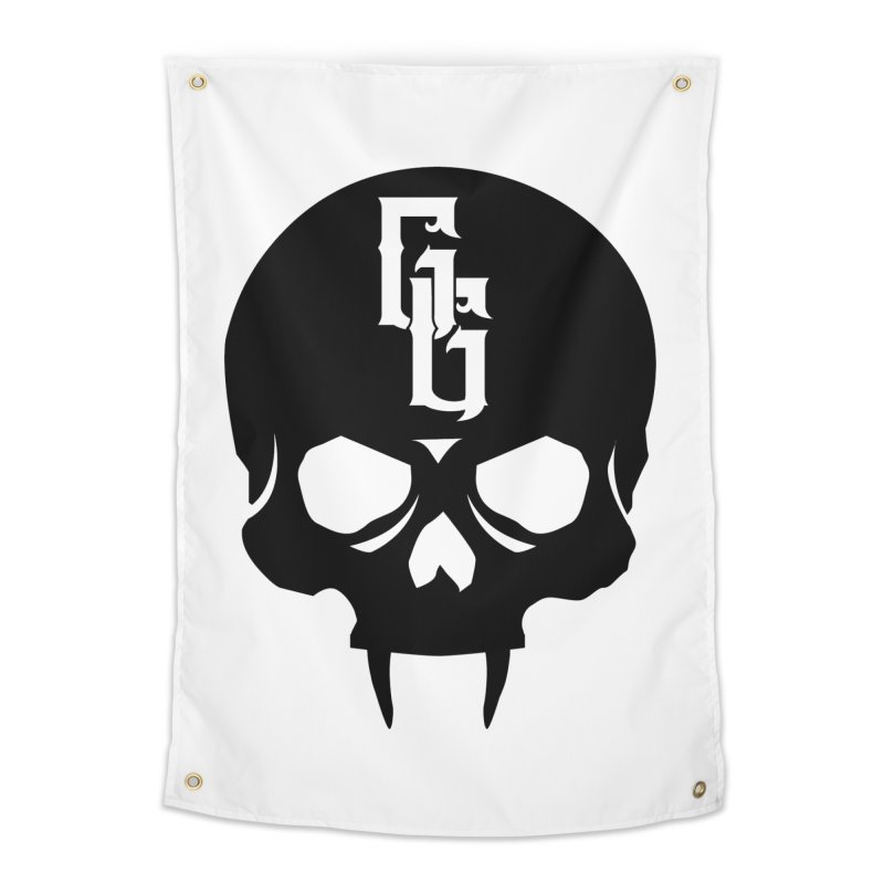 Gehenna Gaming Skull Logo (No Text) Home Tapestry by The Gehenna Gaming Shop