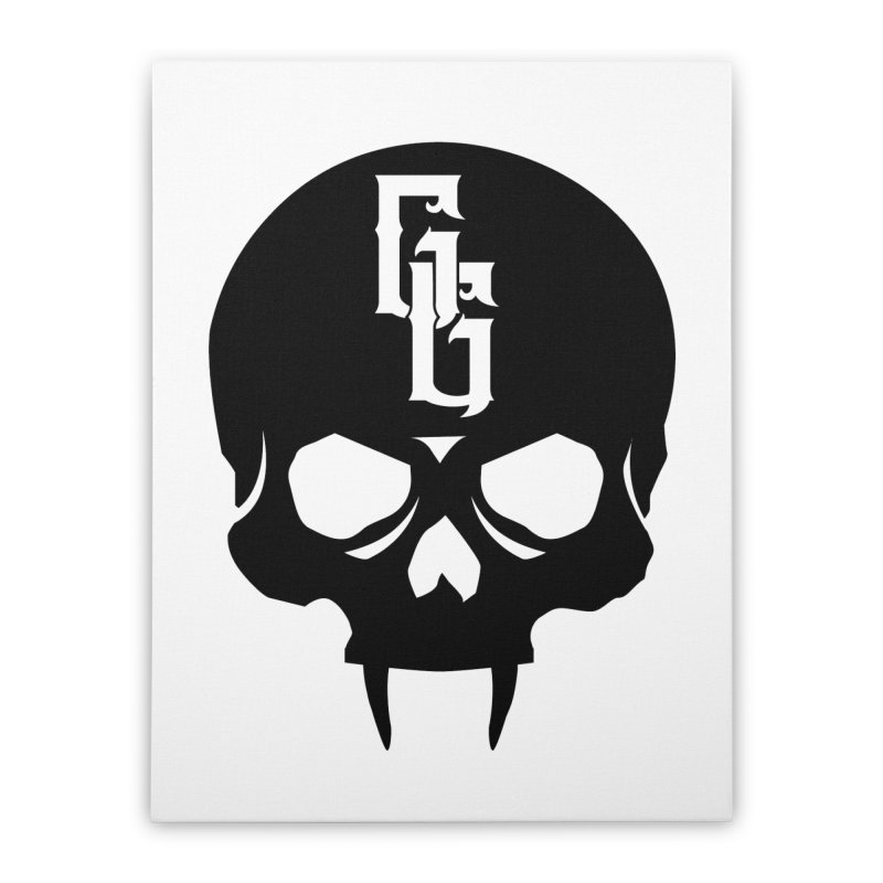 Gehenna Gaming Skull Logo (No Text) Home Stretched Canvas by The Gehenna Gaming Shop