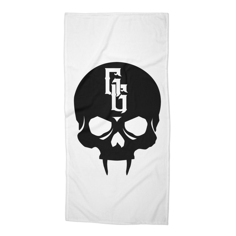 Gehenna Gaming Skull Logo (No Text) Accessories Beach Towel by The Gehenna Gaming Shop