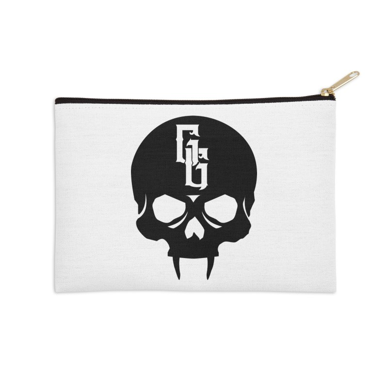 Gehenna Gaming Skull Logo (No Text) Accessories Zip Pouch by The Gehenna Gaming Shop