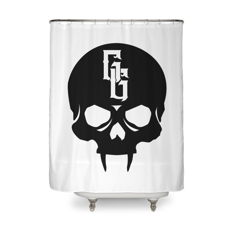 Gehenna Gaming Skull Logo (No Text) Home Shower Curtain by The Gehenna Gaming Shop