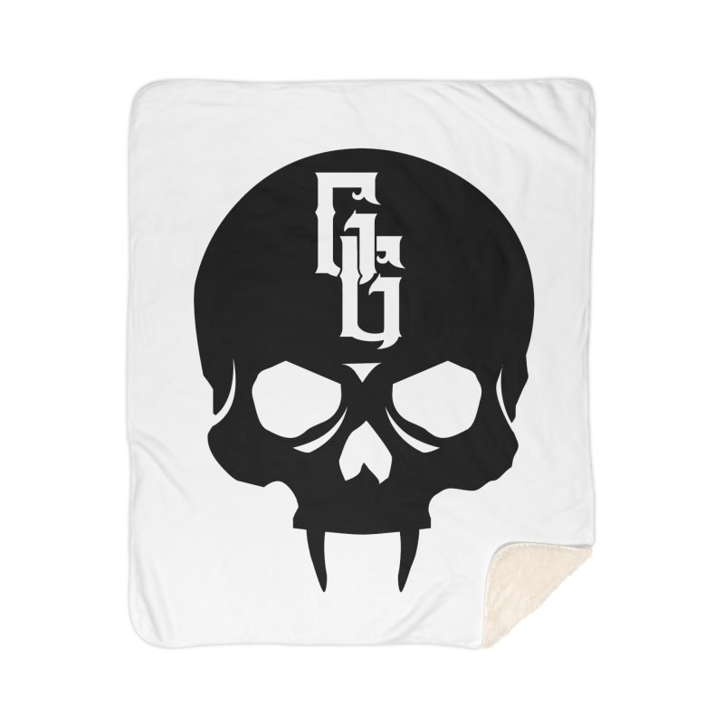 Gehenna Gaming Skull Logo (No Text) Home Sherpa Blanket Blanket by The Gehenna Gaming Shop