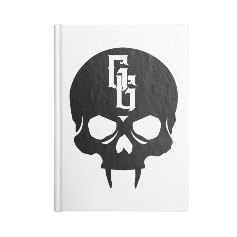 Gehenna Gaming Skull Logo (No Text) Accessories Lined Journal Notebook by The Gehenna Gaming Shop