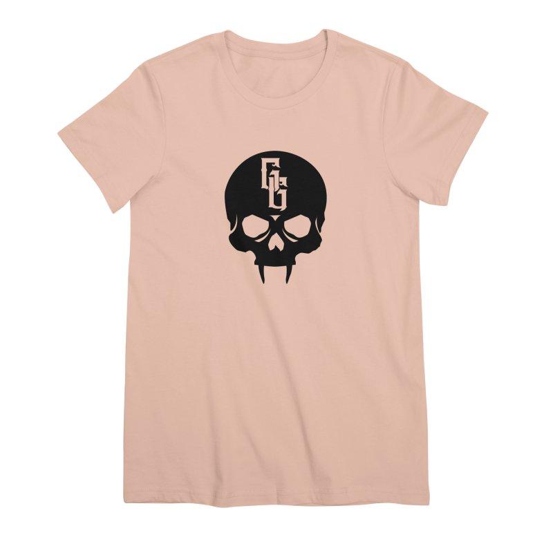 Gehenna Gaming Skull Logo (No Text) Women's Premium T-Shirt by The Gehenna Gaming Shop