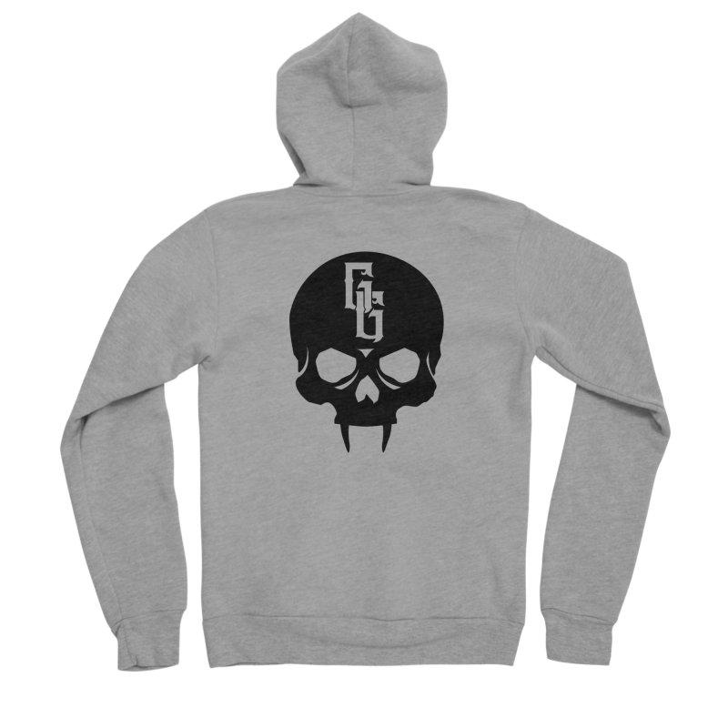Gehenna Gaming Skull Logo (No Text) Men's Sponge Fleece Zip-Up Hoody by GehennaGaming's Artist Shop