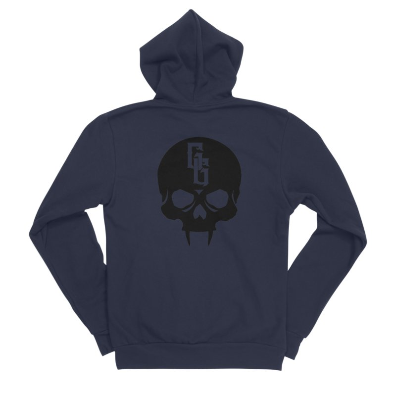 Gehenna Gaming Skull Logo (No Text) Women's Sponge Fleece Zip-Up Hoody by The Gehenna Gaming Shop