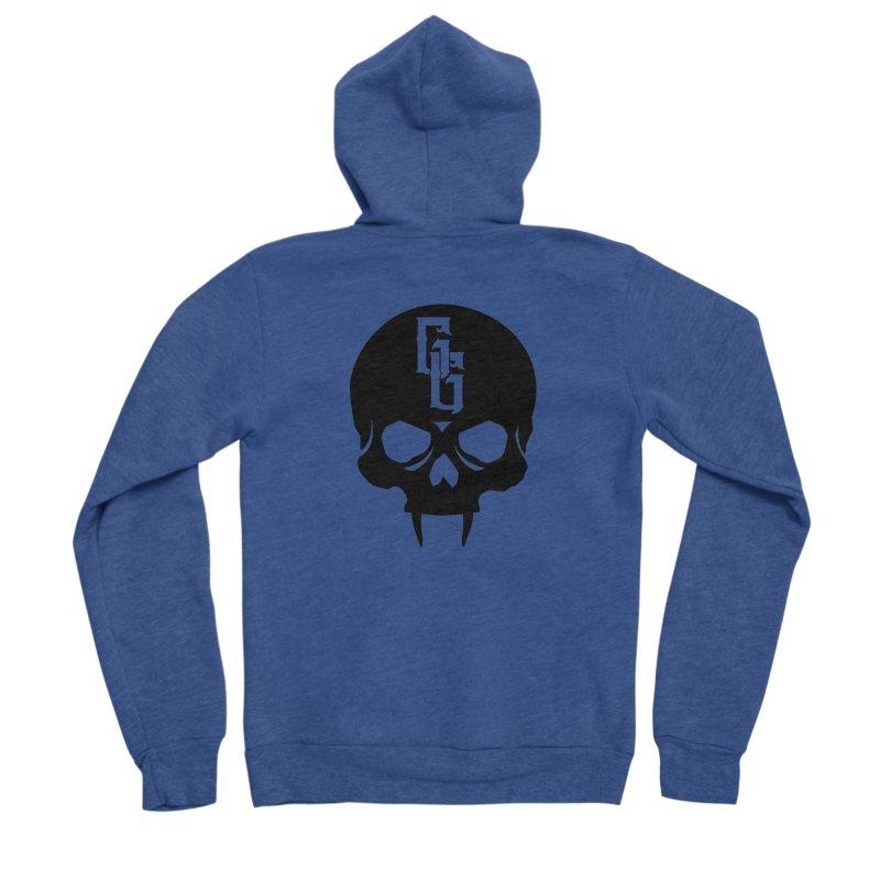 Gehenna Gaming Skull Logo (No Text) Men's Sponge Fleece Zip-Up Hoody by The Gehenna Gaming Shop