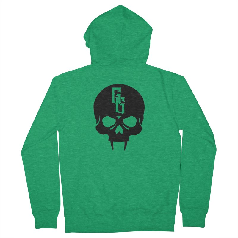 Gehenna Gaming Skull Logo (No Text) Women's Zip-Up Hoody by The Gehenna Gaming Shop