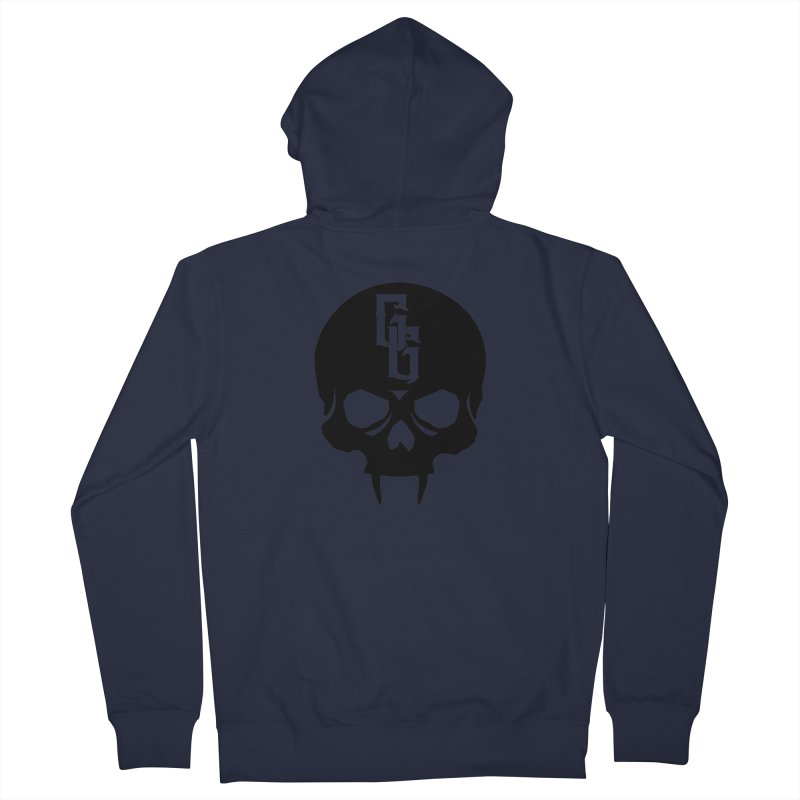 Gehenna Gaming Skull Logo (No Text) Women's French Terry Zip-Up Hoody by GehennaGaming's Artist Shop